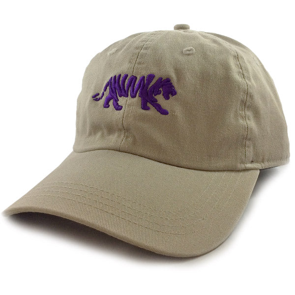 LSU Tigers Ahead Silhouette Walking Tiger Classic Solid Adjustable Hat - Khaki