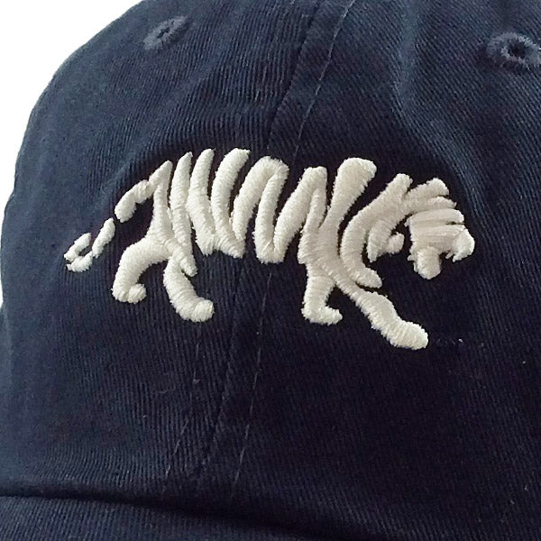 LSU Tigers Ahead Silhouette Walking Tiger Classic Solid Adjustable Hat - Navy