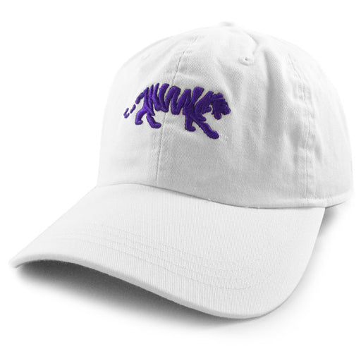 LSU Tigers Ahead Silhouette Walking Tiger Classic Solid Adjustable Hat - White