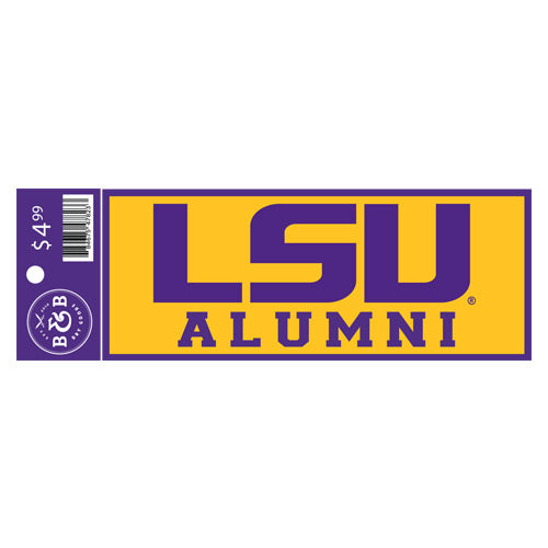 "LSU Tigers Alumni Sticker Decal - 6"" x 2.25"""