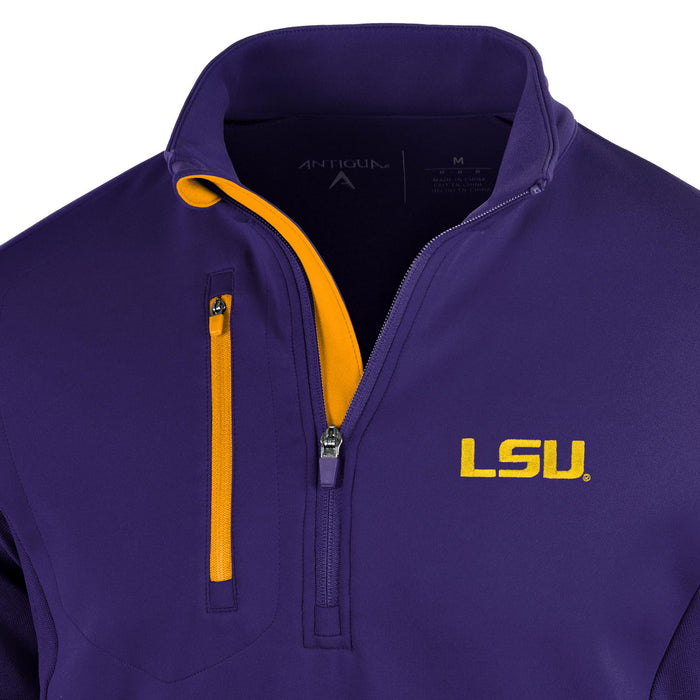 LSU Tigers Antigua Generation Performance 1/4 Zip Pullover - Purple