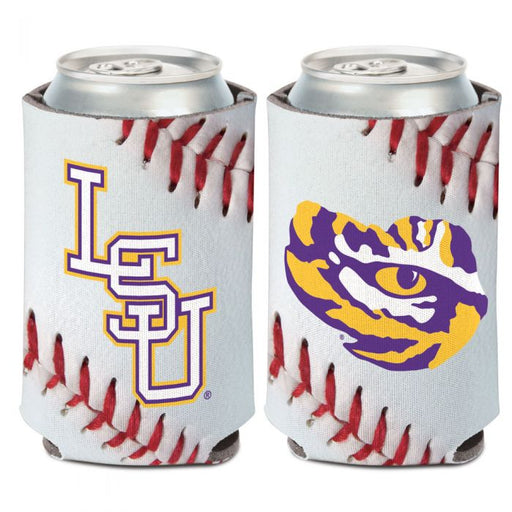 LSU Tigers Baseball Double Sided Can Holder Koozie