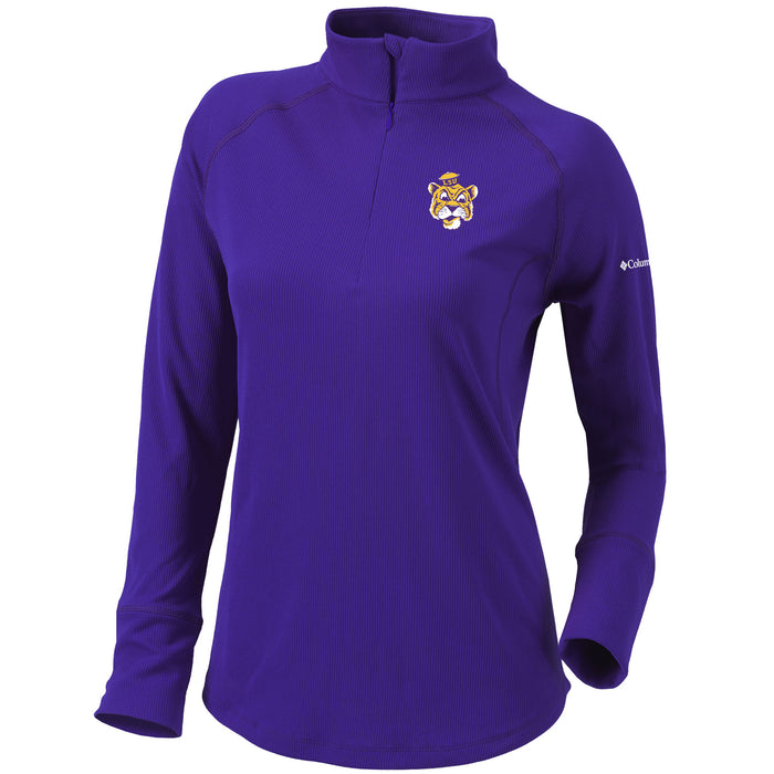LSU Tigers Columbia Golf Beanie Mike Omni-Wick Flop Shot Women's Performance 1/4 Zip Pullover - Purple