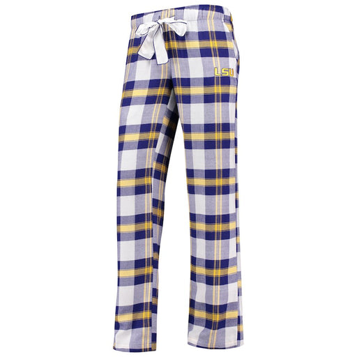 LSU Tigers Concepts Sport Women's Headway Flannel PJ Pants – Purple