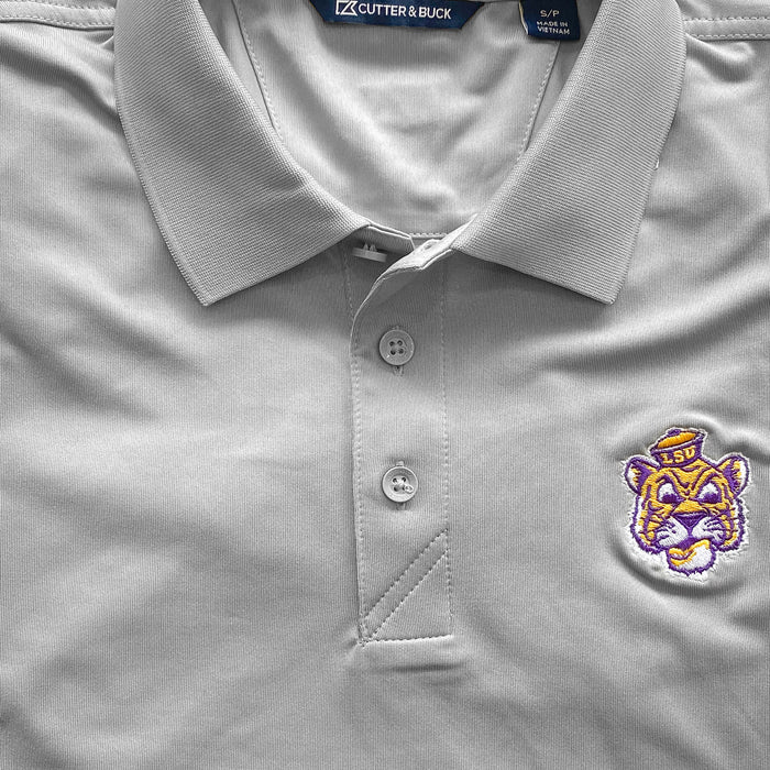 LSU Tigers Cutter & Buck Forge Beanie Tiger Polo - Grey