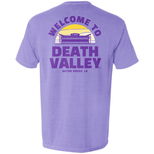 LSU Tigers Death Valley Sunset Garment Dyed Pocket T-Shirt - Amethyst
