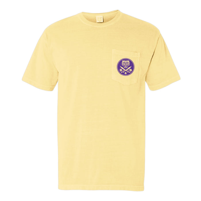 LSU Tigers Death Valley Sunset Garment Dyed Pocket T-Shirt - Yellow