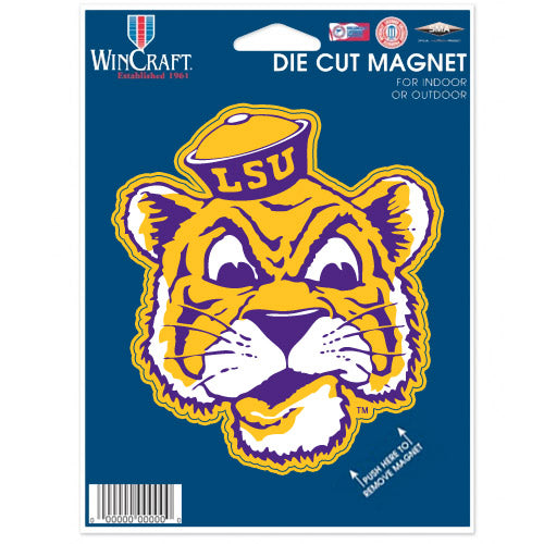LSU Tigers Die Cut Beanie Tiger Magnet
