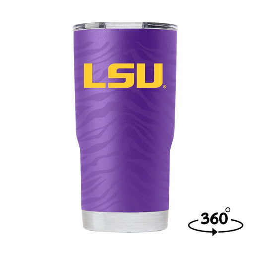 LSU Tigers Gametime Sidekick Tiger Stripe Full Wrap 20oz Tumbler - Purple