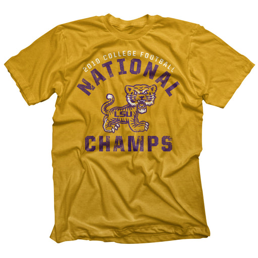 LSU Tigers Highland & State 2019 National Champions Mini Tiger T-Shirt - Old Gold