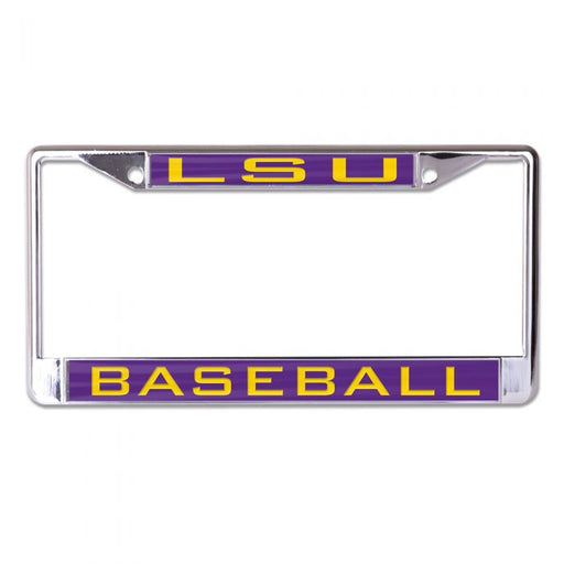 LSU Tigers Laser-Cut License Plate Frame - LSU Baseball