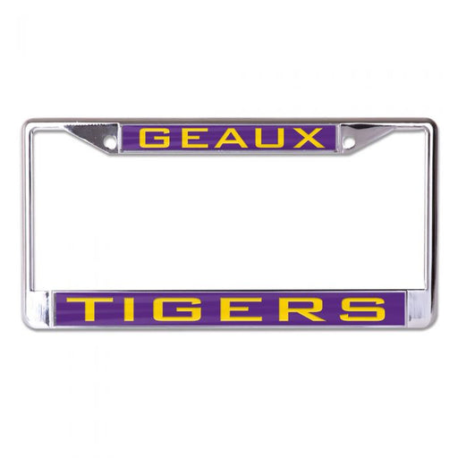 LSU Tigers Laser-Cut License Plate Frame - Geaux Tigers