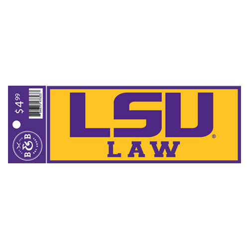 "LSU Tigers Law Sticker Decal - 6"" x 2.25"""