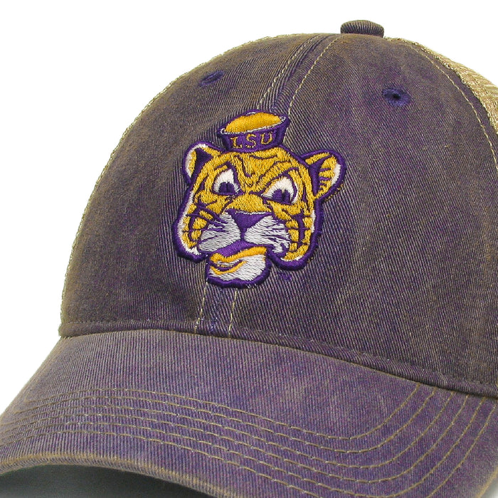 LSU Tigers Legacy Beanie Mike OFA Trucker Hat - Purple