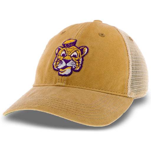 LSU Tigers Legacy Beanie Mike OFA Trucker Hat - Gold