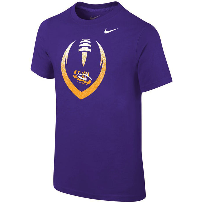 LSU Tigers Nike Youth Sideline Icon T-Shirt - Purple