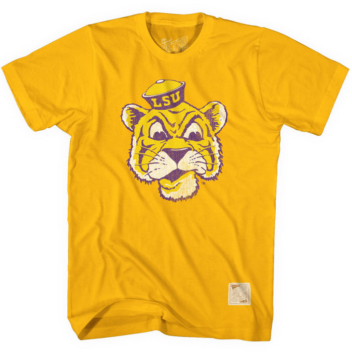 LSU Tigers Retro Brand Beanie Mike Core T-Shirt - Gold
