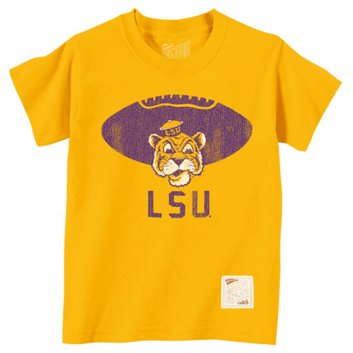 LSU Tigers Retro Brand Beanie Tiger Football Toddler / Kids T-Shirt - Gold