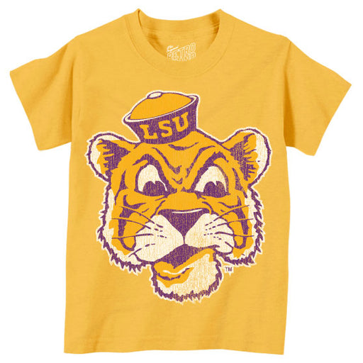 LSU Tigers Retro Brand Beanie Mike Infant Tri-Blend T-Shirt - Gold