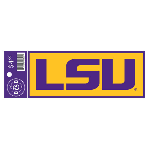 "LSU Tigers Sticker Decal - 6"" x 2.25"""