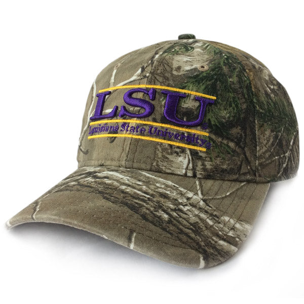 LSU Tigers The Game Classic 3 Bar Adjustable Strap Hat - Camo ... 8d66311115b0