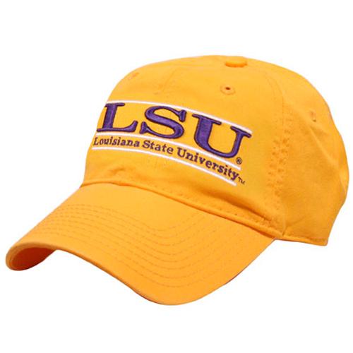 LSU Tigers The Game Classic 3 Bar Adjustable Strap Hat - Gold