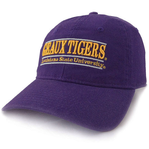 LSU Tigers The Game 3 Bar Geaux Tigers Adjustable Strap Hat - Purple