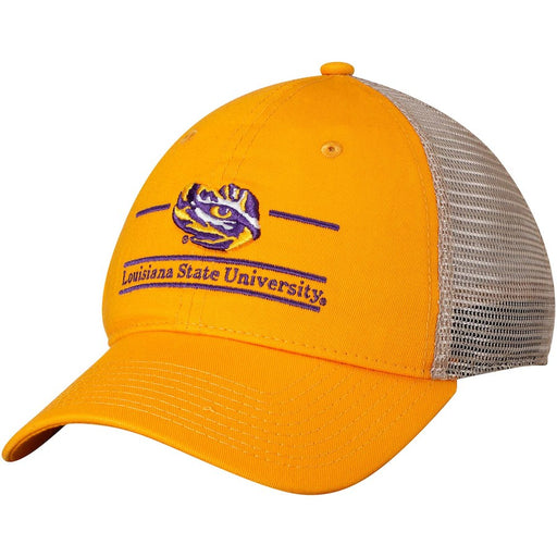 LSU Tigers The Game Classic 3 Bar Mesh Trucker Hat - Gold