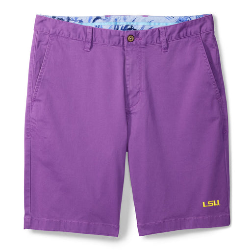 "LSU Tigers Tommy Bahama Boracay 10"" Chino Short - Purple"