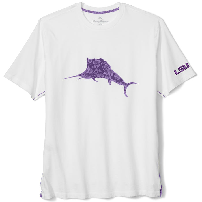 LSU Tigers Tommy Bahama Core Marlin Billboard Crew Neck T-Shirt - White