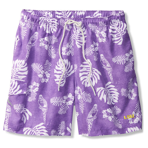"LSU Tigers Tommy Bahama Naples Parrot Paradise 6"" Swim Short"