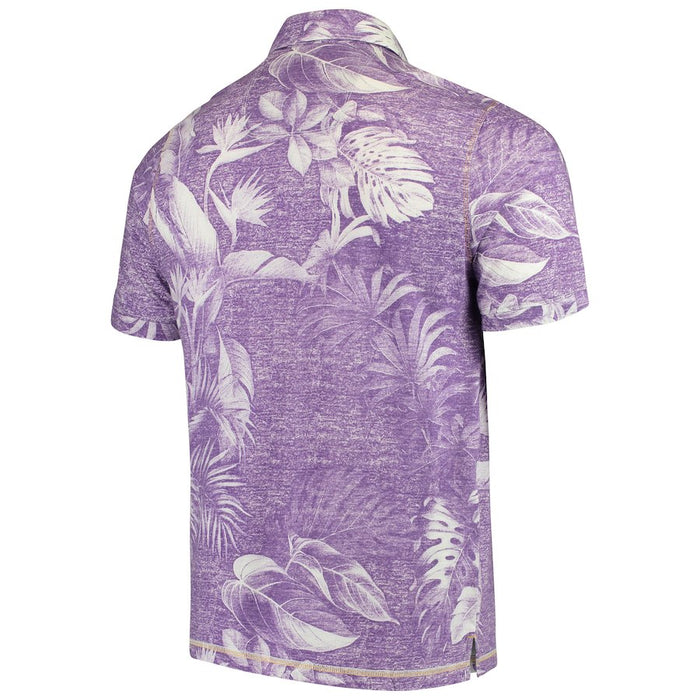 LSU Tigers Tommy Bahama Parque Trim Fit Polo – Purple