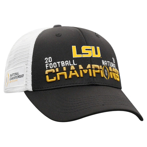 LSU Tigers Top Of The World 2019 National Champions Trucker Hat - Black