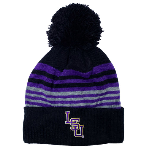 LSU Tigers Top Of The World Frio Cuffed Knit With Pom - Black