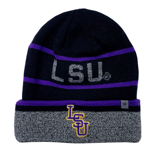 LSU Tigers Top Of The World Vertex Cuffed Knit - Black