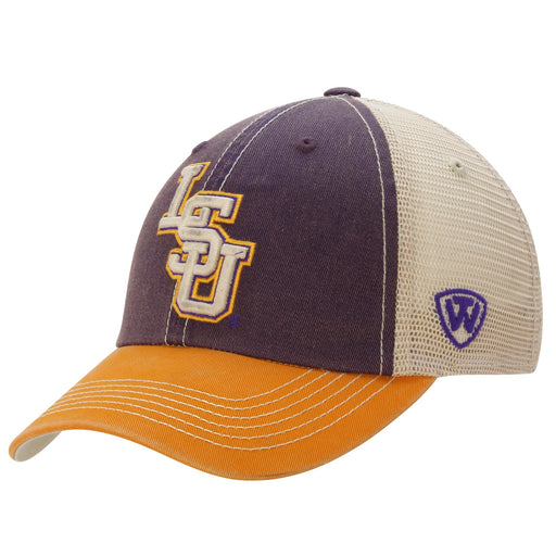 LSU Tigers Top Of The World Offroad Trucker Hat - Purple