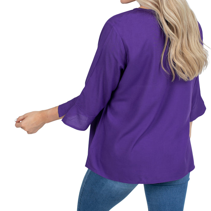 LSU Tigers UG Apparel Flared Long Sleeve Top - Purple
