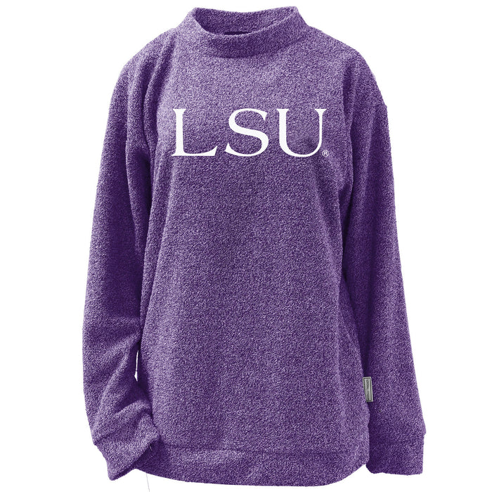 LSU Tigers Woolly Threads Pullover Sweatshirt - Purple