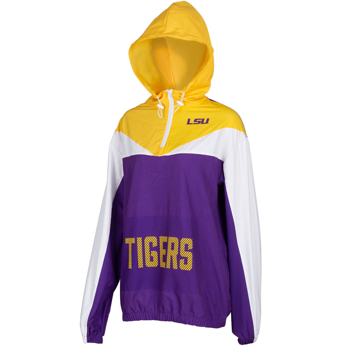 LSU Tigers ZooZatz Women's Energizer Swishy 1/4 Zip Pullover Jacket - Purple