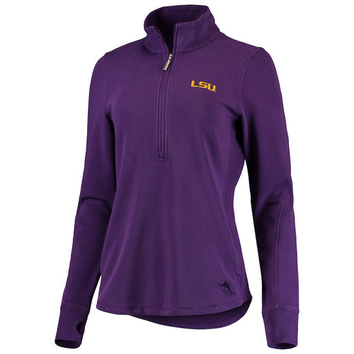 LSU Tigers Tommy Bahama Women's Jen 'N Terry Half-Zip Pullover Jacket – Purple