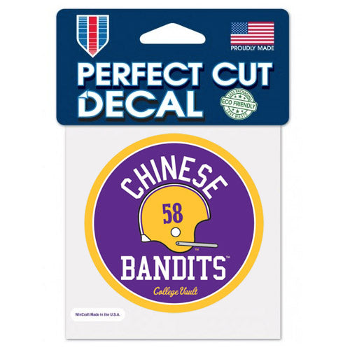 "LSU Tigers Retro Vault Chinese Bandits 4""x 4"" Decal"