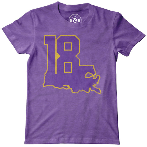 'Louisiana 18' Hester Sports Foundation Youth T-Shirt
