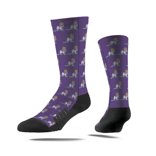 Louisiana Homegrown Mardi Gras Nutria Premium Full Sub Sock - Purple