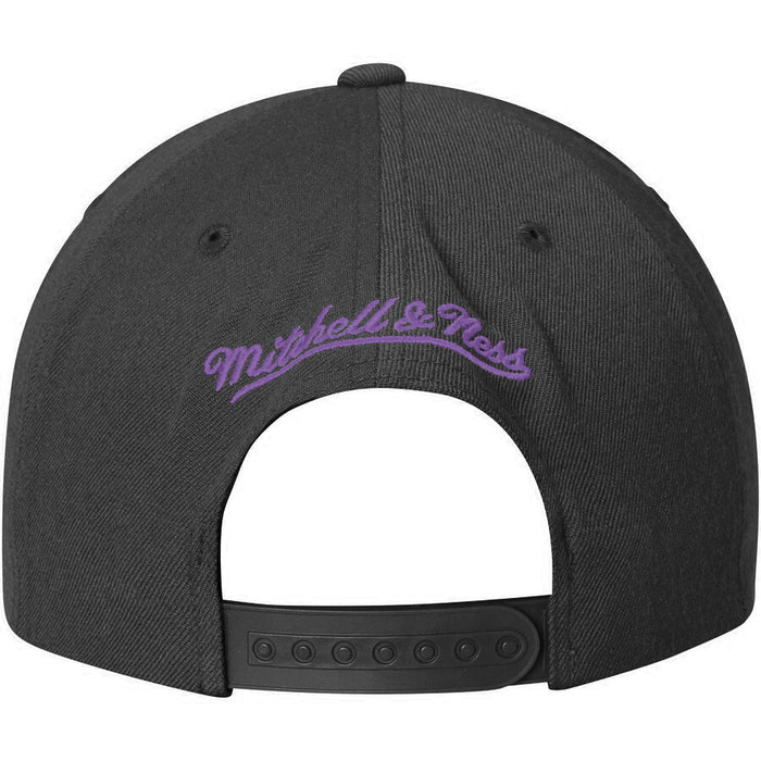 New Orleans Jazz Mitchell & Ness Hardwood Classic Snapback Hat - Black