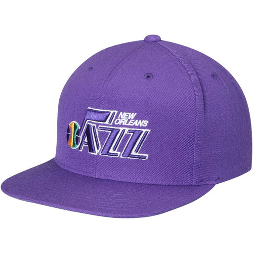 New Orleans Jazz Mitchell & Ness Hardwood Classic Snapback Hat - Purple