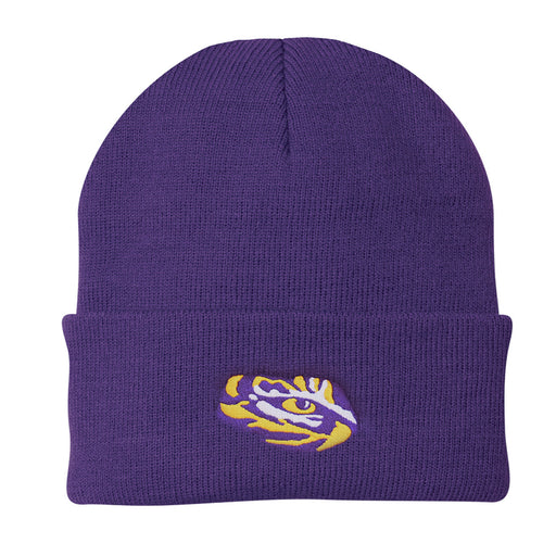 LSU Tigers Top Of The World Simple Cuffed Knit - Purple