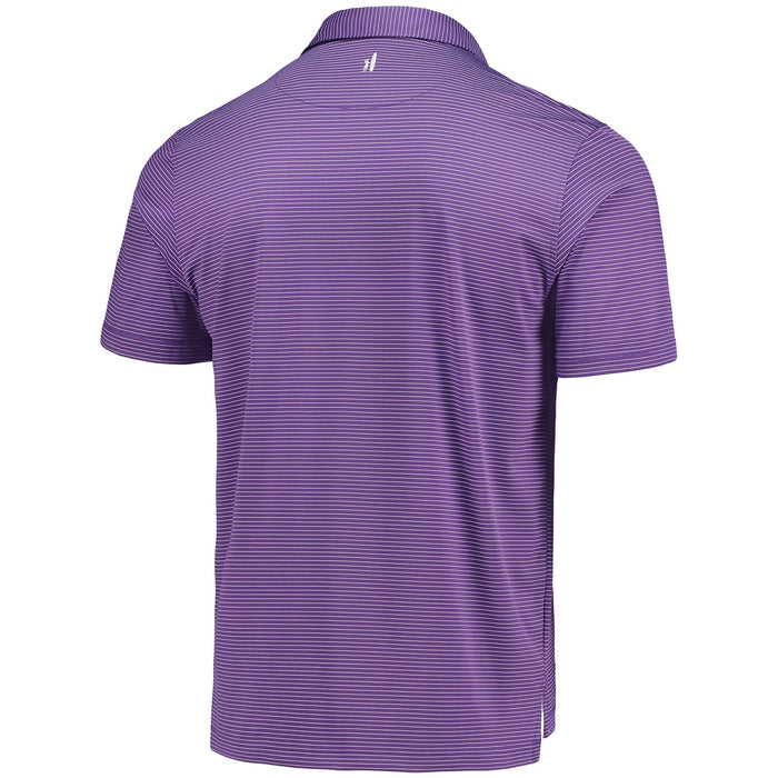 LSU Tigers Johnnie-O Albatross Stripe Stretch Performance Polo - Purple