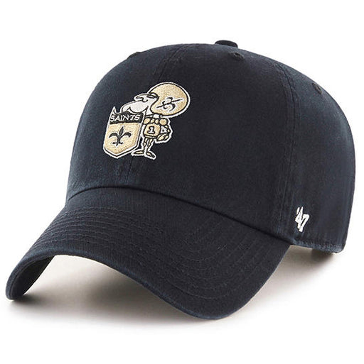 New Orleans Saints 47 Brand Sir Saint Clean Up Adjustable Hat - Black