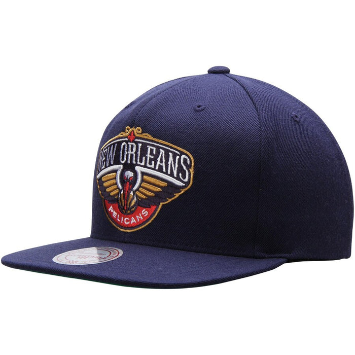 separation shoes 9c544 58de4 New Orleans Pelicans Mitchell   Ness Snapback Hat - Navy