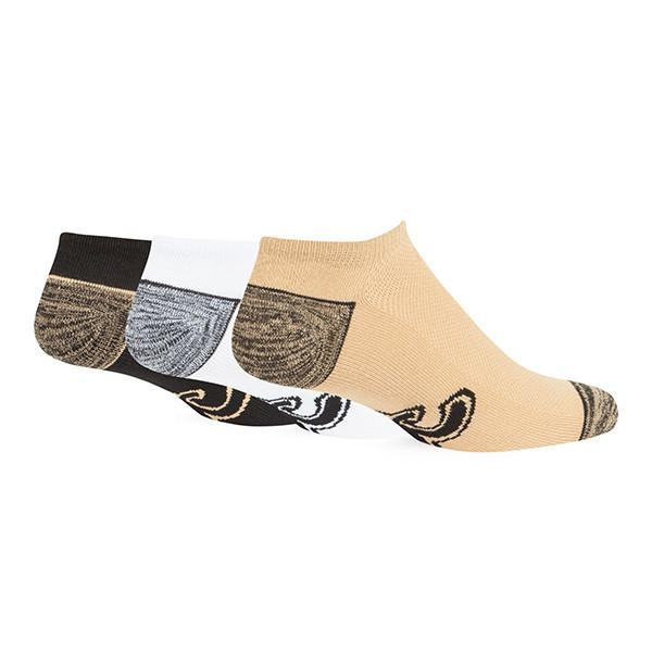 New Orleans Saints 47 Brand Blade No Show Sock 3 Pack - Black / Gold